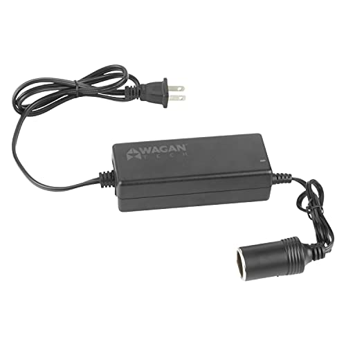 Wagan EL9903 - 5 amp AC to DC Power Adapter, 5A Power Converter, Converts 110V AC to 12V DC, Car Cigarette Ligher Socket, UL listed , Black
