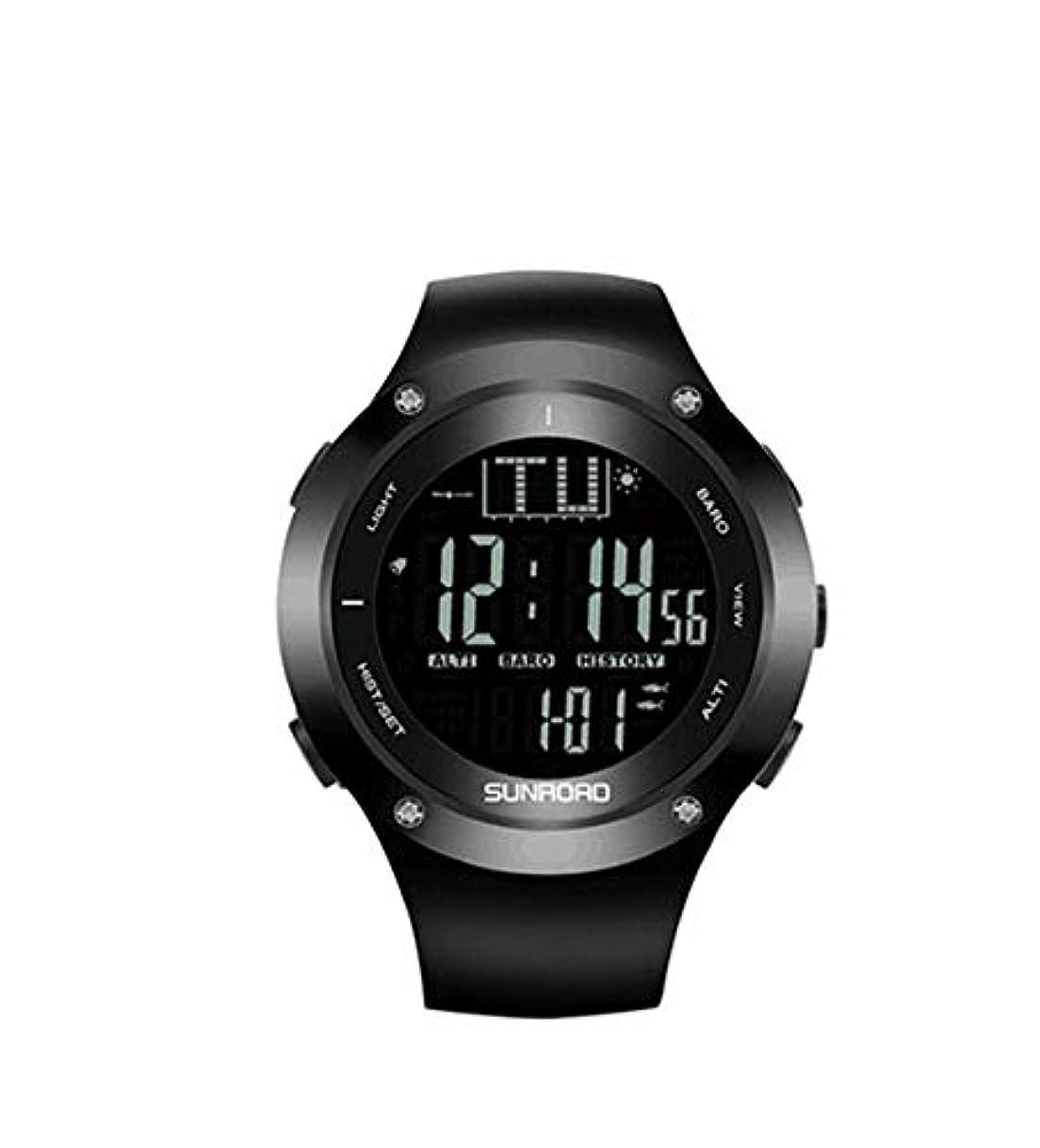 設計図襲撃失礼なSUNROAD FR722B釣り腕時計キャンプハイキング高度計気圧計温度計