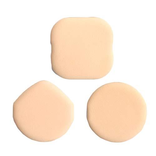 Puff de maquillage, 3Pcs Air Cushion Powder Puff Facile à utiliser Sec et humide Double usage rond Carré Forme de goutte d'eau Puff cosmétique pour appliquer BB Crème, Crème Liquide