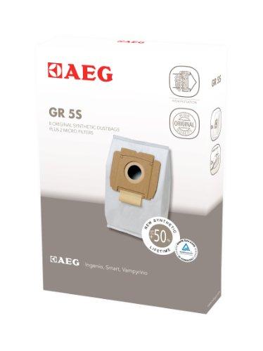 AEG GR 5S - Compatible gama Vampyrino, pack 8 bolsas y 2 microfiltros