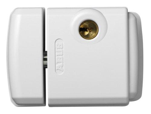 Abus FTS 3003 W - Cerrojo de presión con soporte para ventana o puerta corredera blanco