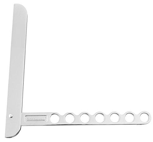 Fackelmann Klapphaken TECNO, klappbarer Kleiderhaken, Kleiderlüfter aus Aluminium (Farbe: Silber), Menge: 1 Stück