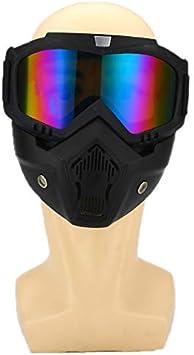 Gafas Protectoras Gafas Protectoras con Máscara Gafas Anti-UV A Prueba De Viento Gafas Gafas Casco Todoterreno Moto Gafas De Seguridad para Motos Ski Skate, Tipo 1