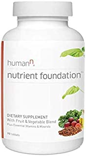 HumanN Nutrient Foundation Daily Multivitamin Multimineral Supplement. Vitamins A C E D B1 B2 B3 B5 B6 B12, Grape Seed Extract, Magnesium, Biotin, Lutein, Cardiovascular, Immune Health - 90 Tablets