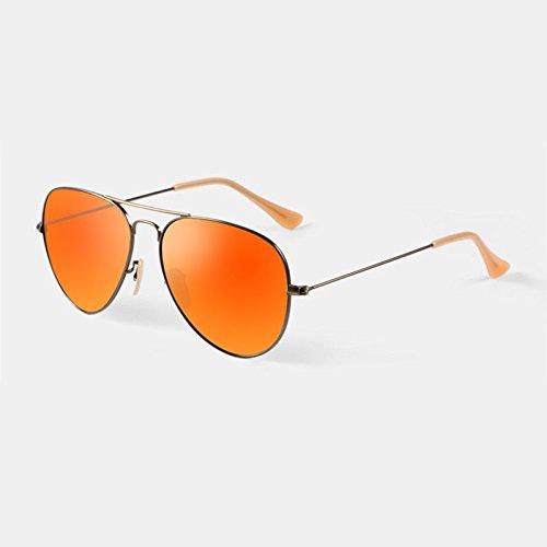 Cielo moderno Gafas Lentes de Cristal Anti Ultravioleta Gafas de Sol Diseño Unisex (Color : Naranja)