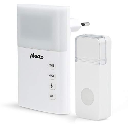 Plug-in Draadloze Deurbel Set 220V 36 Melodieën / LED-Indicator Wit