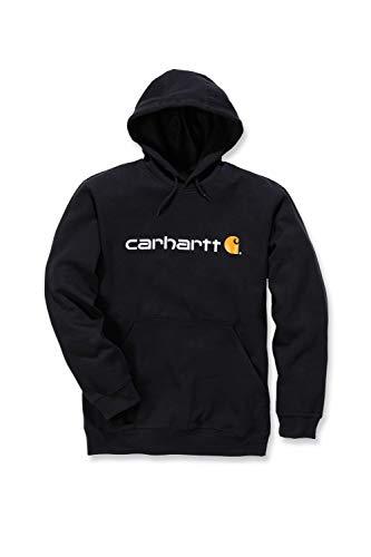 Carhartt Signature Logo Midweight Sweatshirt Sudadera, Black, S para Hombre
