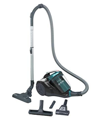 Hoover Chorus CH40PAR - Aspirador sin bolsa, ciclónico, Cepillo suelos parquet, alfombras y suelos duros, Accesorios integrados, 2,5L, Filtro Hepa, Potencia 550W, 78dB, Verde Camaleón