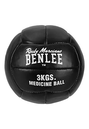 BENLEE Rocky Marciano Unisex - Adulto Paveley Artificial Pelle Medicine Ball, Black, 3 kg