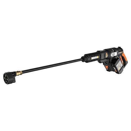 Product Image of the WORX WG644 40V Power Share Hydroshot Portable Power Cleaner (2x20V Batteries), Black and Orange