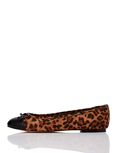 Find. Ballet Pump Bailarinas, Marrón Tiger, 39 EU