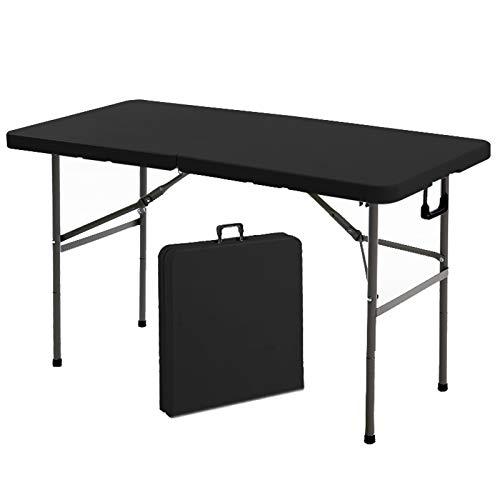 HXGL-Drum Mesa Plegable para Acampar Mesa de Aluminio Ajustable en Altura Escritorio Ligero Mango portátil Mesa Resistente al óxido para Picnic al Aire Libre Playa Patio Trasero para Oficina en casa