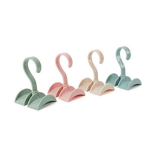 Pack de 4Armario de girar estantería de almacenamiento bolsa cinturón gancho de la percha percha armario Organzier
