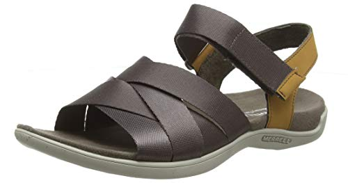 Merrell Damen District Maya Backstrap Slingback Sandalen, Braun (Falcon), 37 EU