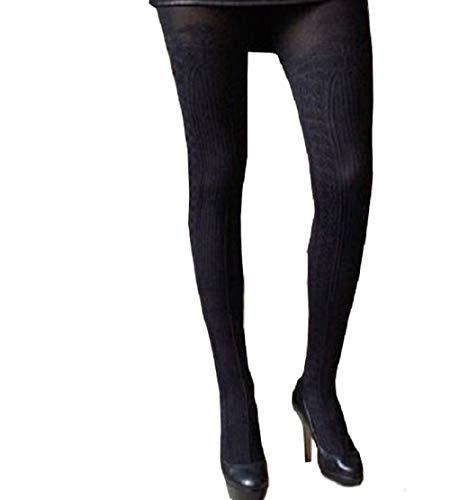Zwarte Dikke Dekking Mock Suspender Panty's Imiterende Kousen