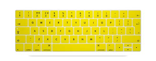 Keyboard Cover Protector Skin Silicone Euro Eu English Layout For 2016 New Macbook Pro 13 15 Retina With Touch Bar 2016 2017-yellow-
