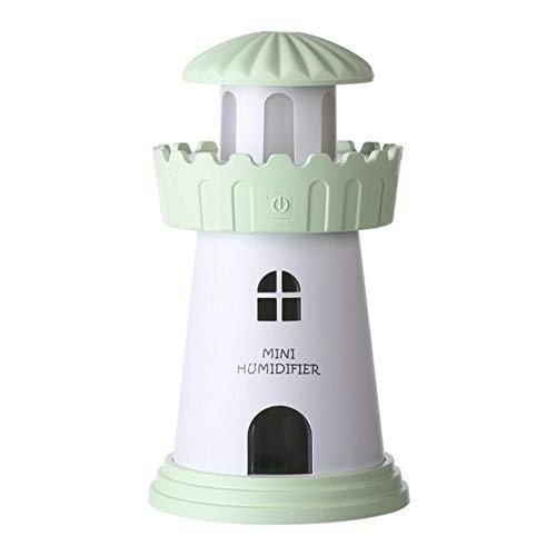 AnnQing Humidificador de Faro Creativo 150ML Humidificador de Aire ultrasónico para Escritorio de Oficina de Coche con luz LED Humidificadores de Aroma USB-D