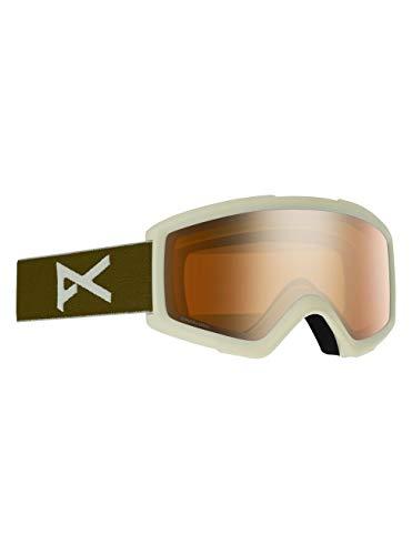 Anon Herren Helix 2 Sonar with Spare Snowboard Brille, Olive/Sonarbronze