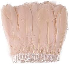 JUJING 1 meter natuurlijke veren lint witte ganzenveer 15-20 cm voor Kerstmis trouwjurk kleding decoratie ambachten access...