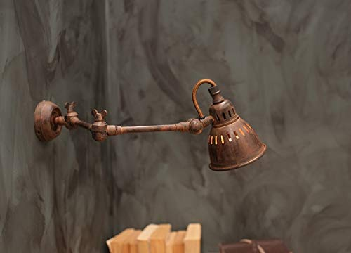 Nkuku industriële stijl wandlamp licht tubu roest, uitschuifbaar