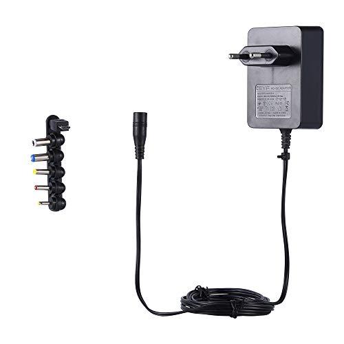 DEYF 5V 3A Universal Netzteil 15W AC DC-Ladegerät für USB-Hub, LED-Pixel-Licht, Kindle Fire Tablet, Notebook, DJ-Controller (6-Tipps)