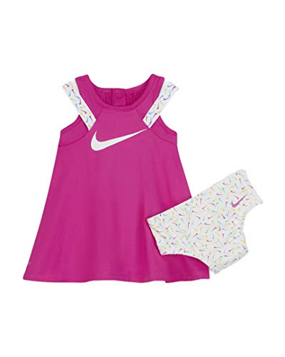Nike Baby Girls (Fire Pink(06G174-A2B)/White, 0-3 Months)