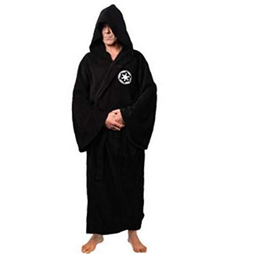 1pc Cavaliere Jedi Robe Fleece Robes Star Wars Accappatoio costume cosplay per uomo e donna (m Nero)