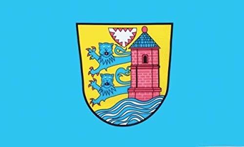 Fahne Flaggen FLENSBURG MIT WAPPEN 150x90cm