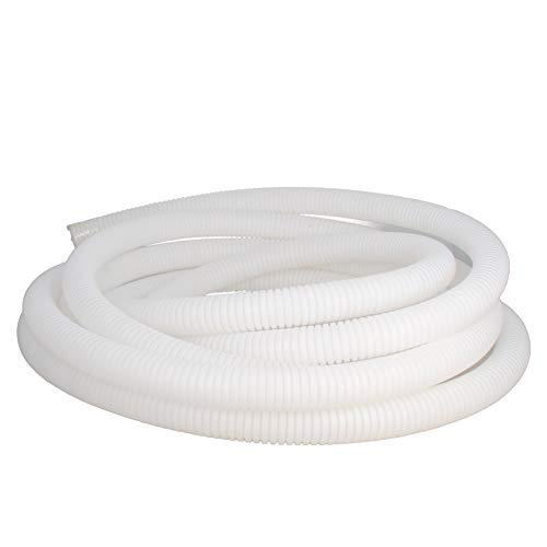 Othmro 17mmx5M White Flexible Corrugated Tube Hose Polypropylene(PP) Cable Tubing Conduit Pipe Tubing Hose 1pcs