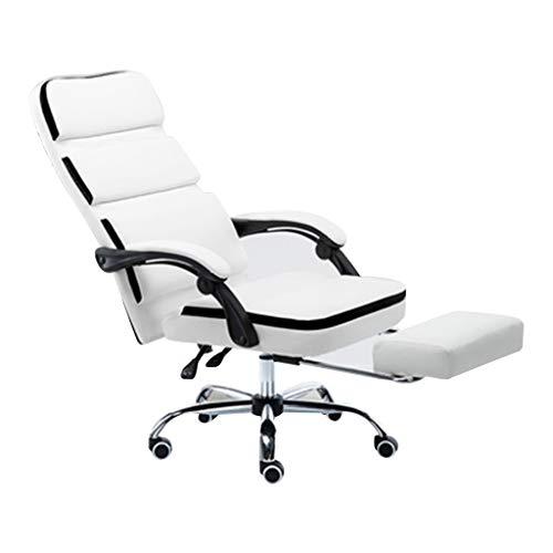 Lehnstühle Ankerhocker Komfortsitz Computerstuhl Home Study Sofa Sitz Liege (Color : Weiß, Size : 65 * 130cm)
