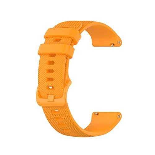Shenxay Bandas de 20 mm para Garmin Venu Sq Music Vivomove HR reloj inteligente deportivo de silicona