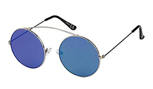 Zonnebril Ronde 400 UV metalen beugel top plaats steiger spiegel kleurrijke
