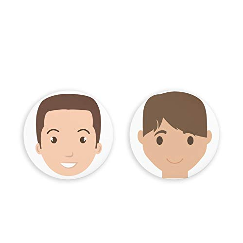 Almohadillas magnéticas para Nevera, imanes de Nevera, Paquete de 2 imanes de Nevera de Emoji Humano, Juego de 2 imanes de Oficina