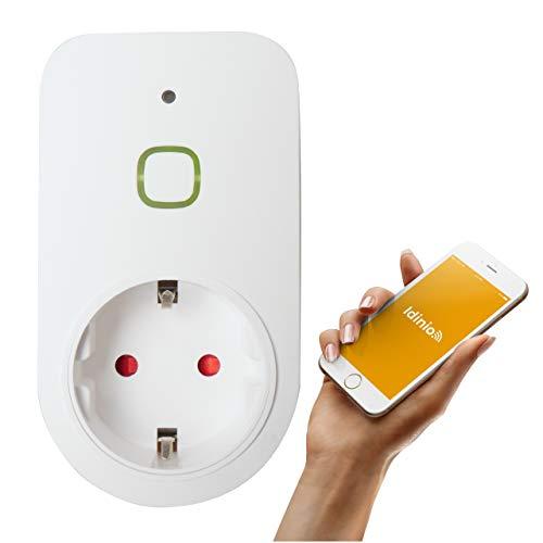 idinio Smart Steckdosenadapter Power view, beliebige Geräte Ein-/Ausschalten, Energiemessfunktion, Zeitschaltuhr per App, 3.600 Watt, WLAN, kostenlose App für iOS und Android, Skill für Echo