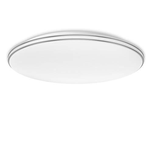 LVWIT 24W LED Deckenlampe (Ersetzt 70W) Aufbau 6000K Kaltweiß, 1680 Lumen, rund ø40 cm, Deckenleuchte für Wohnzimmer Schlafzimmer Küche Treppen Flur Korridor