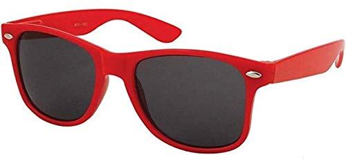 Boolavard TM Sonnenbrille Nerdbrille retro Art. 4026 (Rot Tönung)