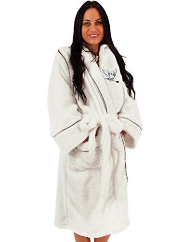 Harry Potter Hedwig Damen weißer Bademantel | Damen Luxus Hogwarts Robe