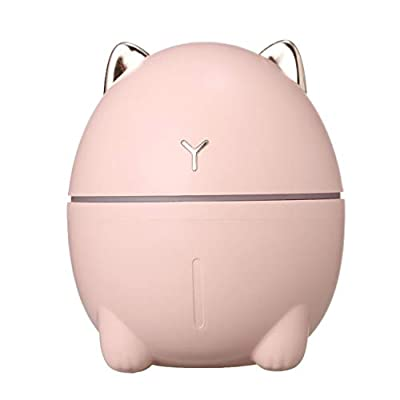 Xisheep USB Air Humidifier Desktop Cute Cat Water Mist Diffuser Night Light Moisture, Small Appliances