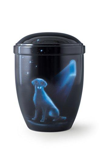 Designerurne Volumen 2,0 ltr., schwarz, Motiv Hund