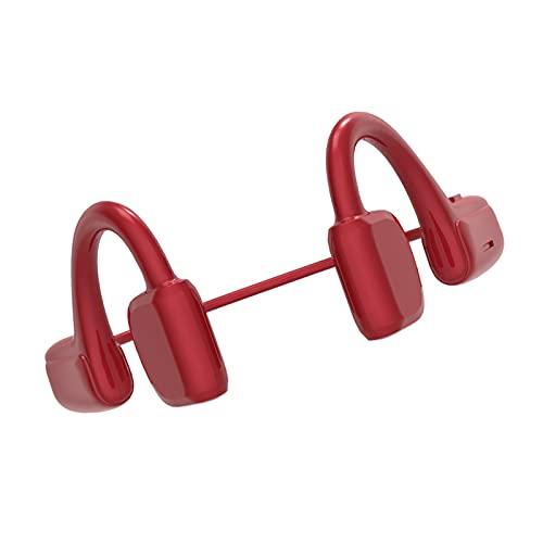 Generic Cuffie Bluetooth a Conduzione Ossea Cuffie Wireless a Orecchio Aperto HiFi Stereo con Microfono Auricolari Sportivi Impermeabili per iOS - Rosso