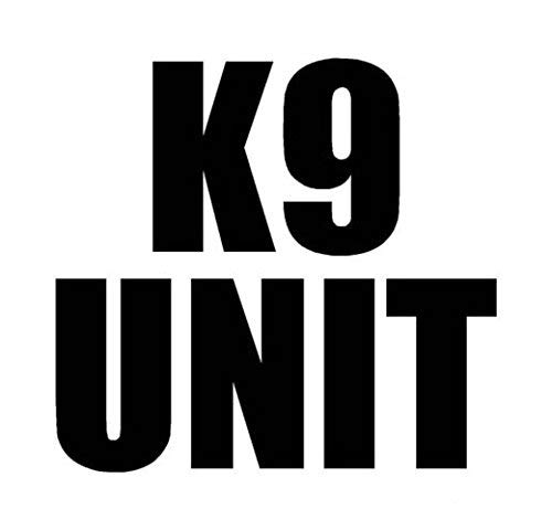 Ranger Products K9 Unit - Decal Sticker, Die Cut Vinyl Decal for Windows, Cars, Trucks, Tool Boxes, laptops, MacBook - virtually Any Hard, Smooth Surface