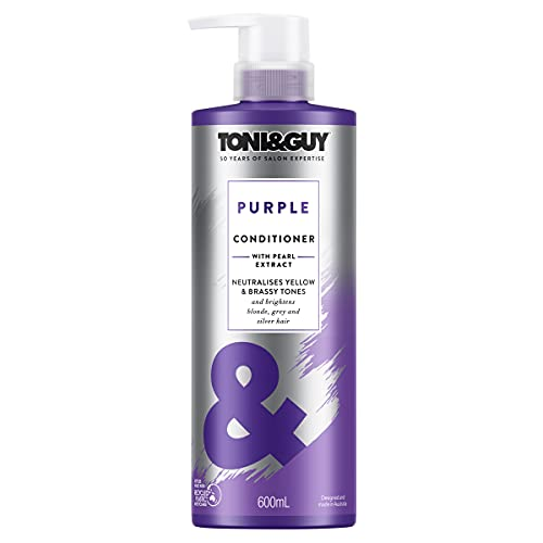 Toni & Guy Conditioner Purple for Bleached Blonde Hair with Pearl Extract, 600 ml