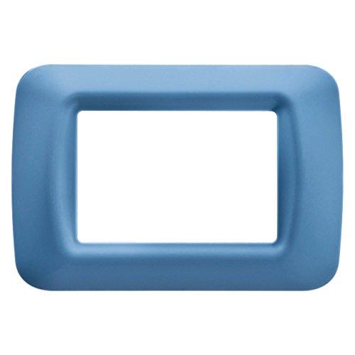 Gewiss 22563 Placca, Serie System, a 3 Posti, Blu