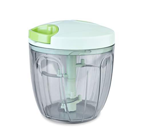 ERGOCUIS Portable BPA Free EasyPull Food Chopper, Mixer, Blender &Processor, 4 cup, Pistachio Green,