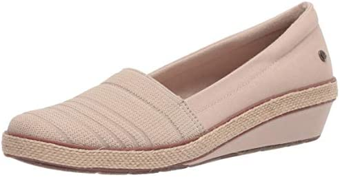 Grasshoppers Women s Quinn Wedge Canvas Platform Stone 10 Wide product image