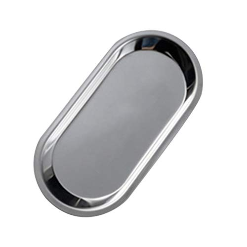 Rolling Tray Stainless Steel Storage Tray Multi Purpose Tray Simple Metal Style Jewelry Storage Tray 74  362inch