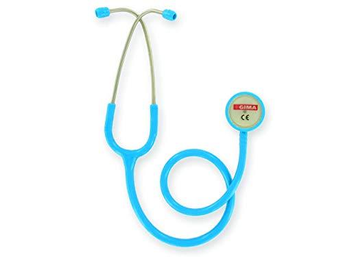 GIMA - Classic Doppelkopf-Stethoskop, Hellblauer Schlauch, Littmann-Stethoskop, Erwachsene, Berufsstethoskop
