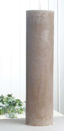Rustik-Stumpenkerze, 40 x 10 cm Ø, sand