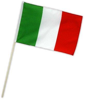 Fahne Flagge Italien 30 x 45 cm mit Stab