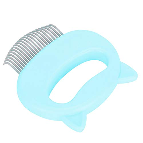 Open Knot Cat Hair Removal Shell-kam voor Pet Cat Dog Shell-vorm(green)
